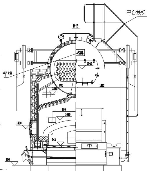 生物质卧室蒸汽锅炉结构图